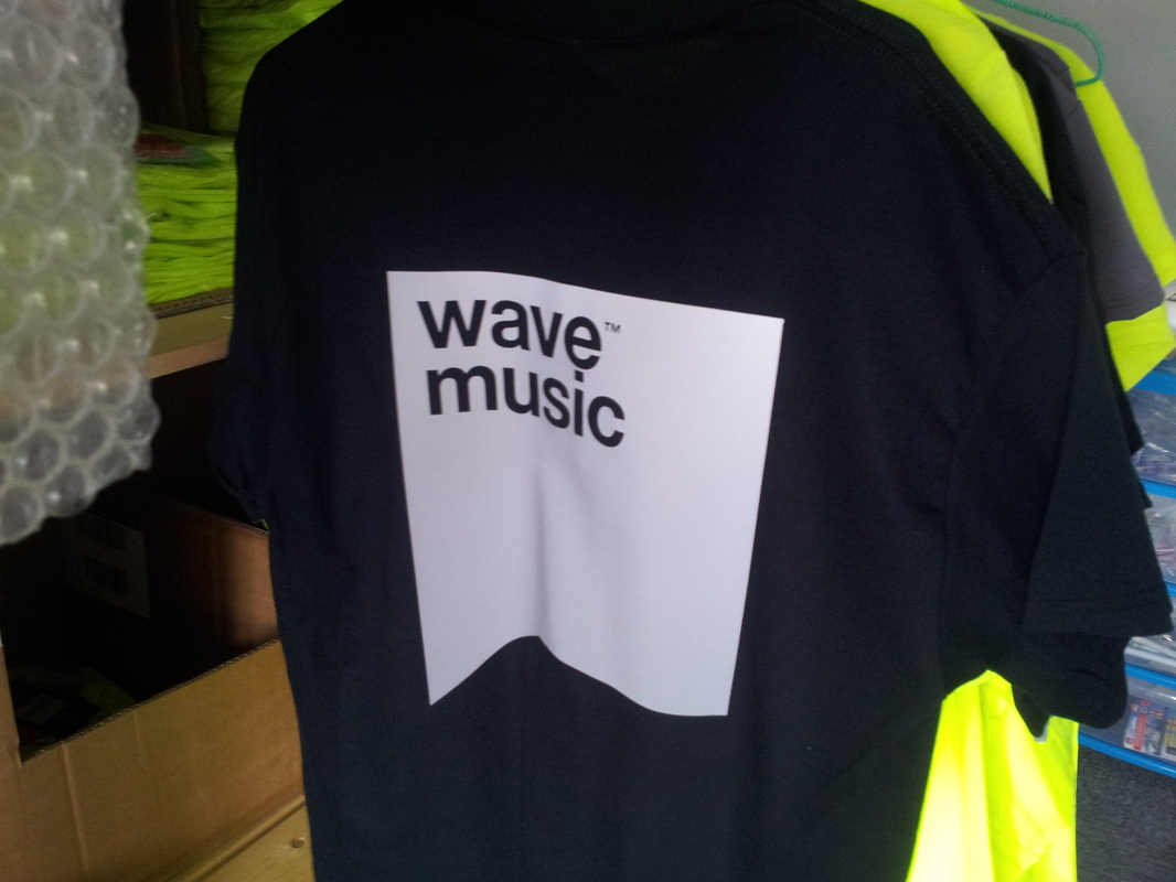 Large format custom reflective logo branded printed on tshrts locally best