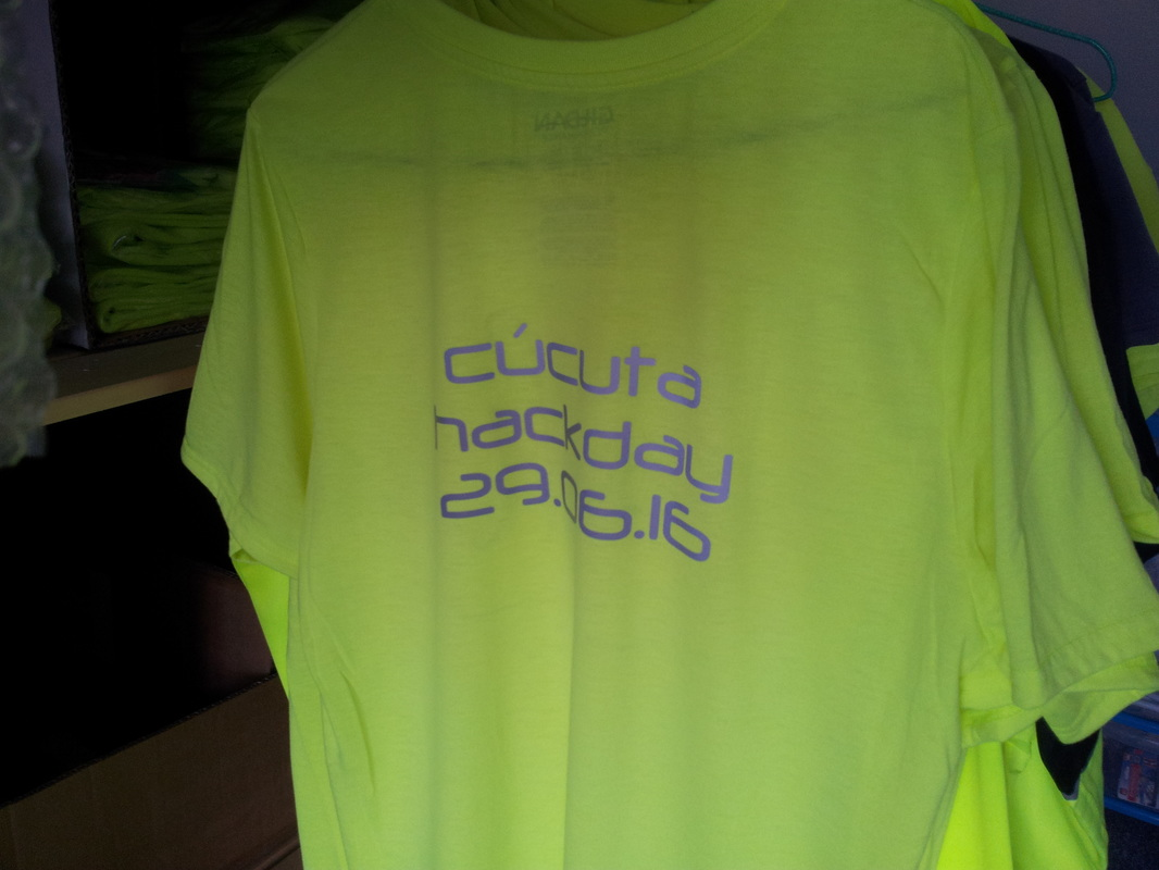 Rear of the garment printed with reflective ink showing their branding and logo
