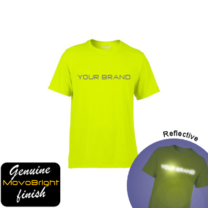 Reflective fluorescent yellow sports tshirt