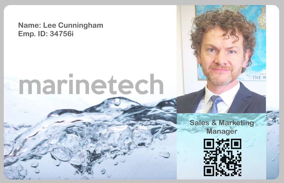 Example of a plastic ID card printed at our base in St. Alban's