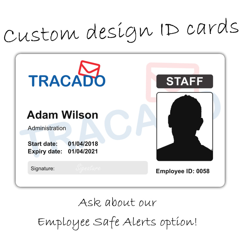 Colchester custom print employee id card with alert technology built in