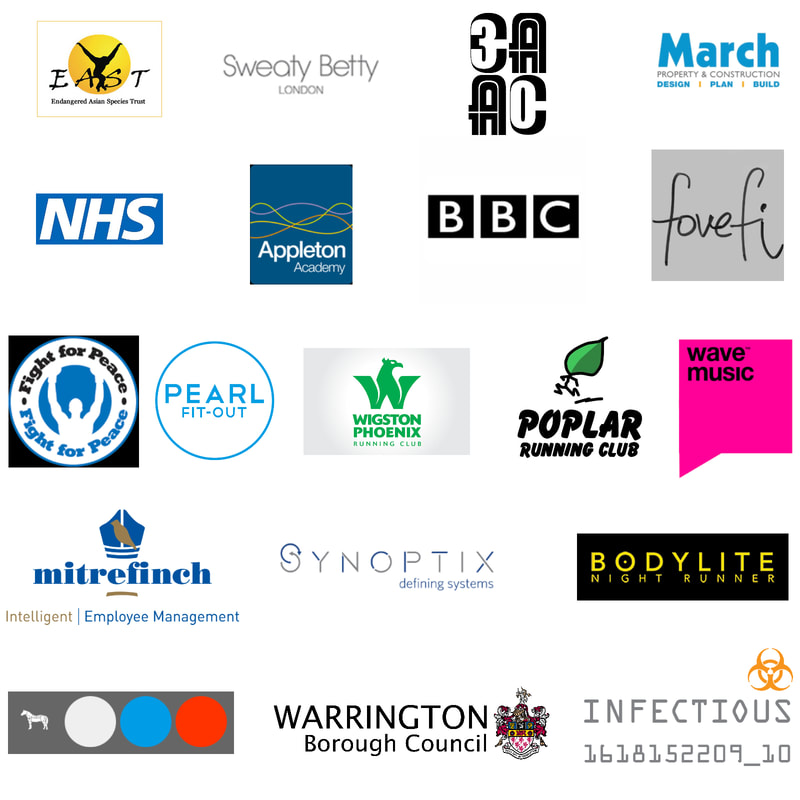 Logos of some of the clients that have used our custom reflective t shirt printing service