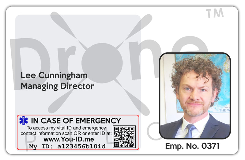 Image of staff id card printed in Gateshead ID Card printing with Alert System