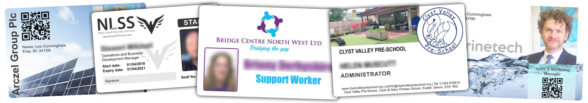 TOWN examples of staff photo ID cards | samples of employee Identity card printing | Workers ID cards printed in
