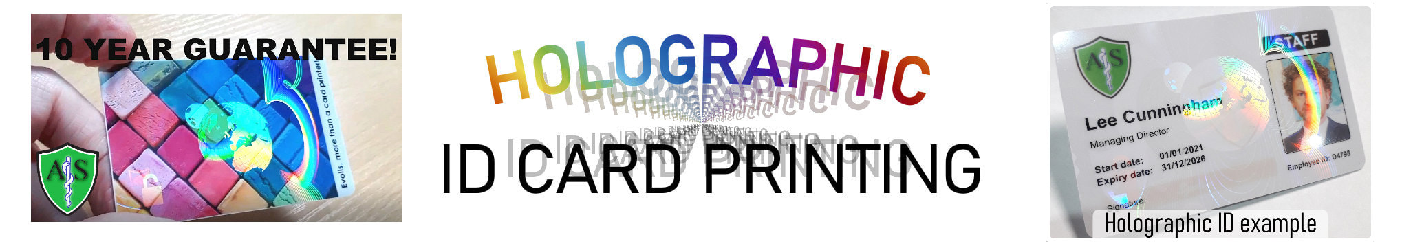Hull, Kingston-upon-Hull holographic ID card print service. Employee Identity cards with hologram or holograph security mark.