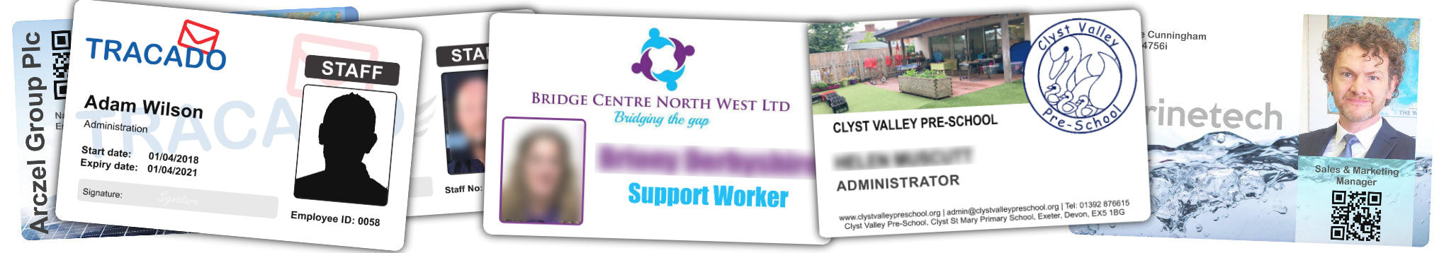 St. Alban's examples of staff photo ID cards | samples of employee Identity card printing | Workers ID cards printed in